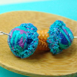 Ice Cream Earrings // Tropical Sunset Ice Cream Cones // Food Jewelry // MADE TO ORDER