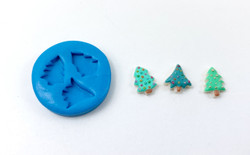 Silicone Mold// Dollhouse Cookies // Christmas Trees Mold // Miniature Food Mold