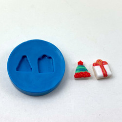 Silicone Mold// Dollhouse Cookies // Stocking Hat and Present Mold // Miniature Food Mold