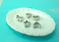 Dollhouse Miniature Cookie Cutter Set - 1/12 scale