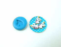 Dollhouse Miniature Unicorn Cookie Mold //  Flexible Silicone Mold