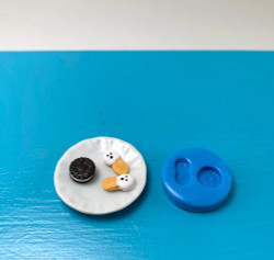 Dollhouse Miniature OREO and Nutter Butter Style Cookie Mold //  Flexible Silicone Mold