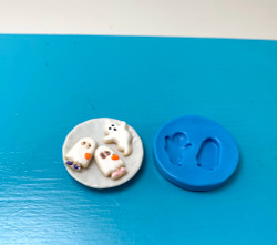 Dollhouse Miniature Ghost Cookie Mold //  Flexible Silicone Mold