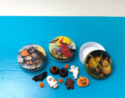 Dollhouse Halloween Tins  Set B // 1:12 Scale