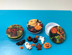 Dollhouse Halloween Tins  Set C // 1:12 Scale