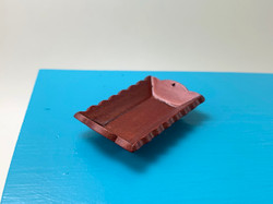 Dollhouse Miniature Mahogany Tray - 1/12 scale