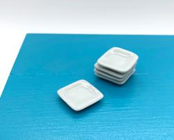 Dollhouse Miniature Small Plate, Square - 1/12 scale