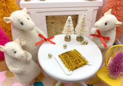Dollhouse Christmas Tinsel in Gold // Two Yards // 1:12 Scale