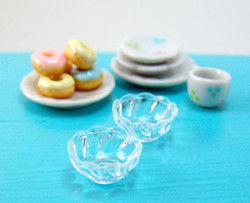 Dollhouse Miniature Clear Candy Dish - 1/12 scale