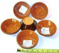 Piral Set of Six,  Ramekin, bowls, 11 cm, Brown