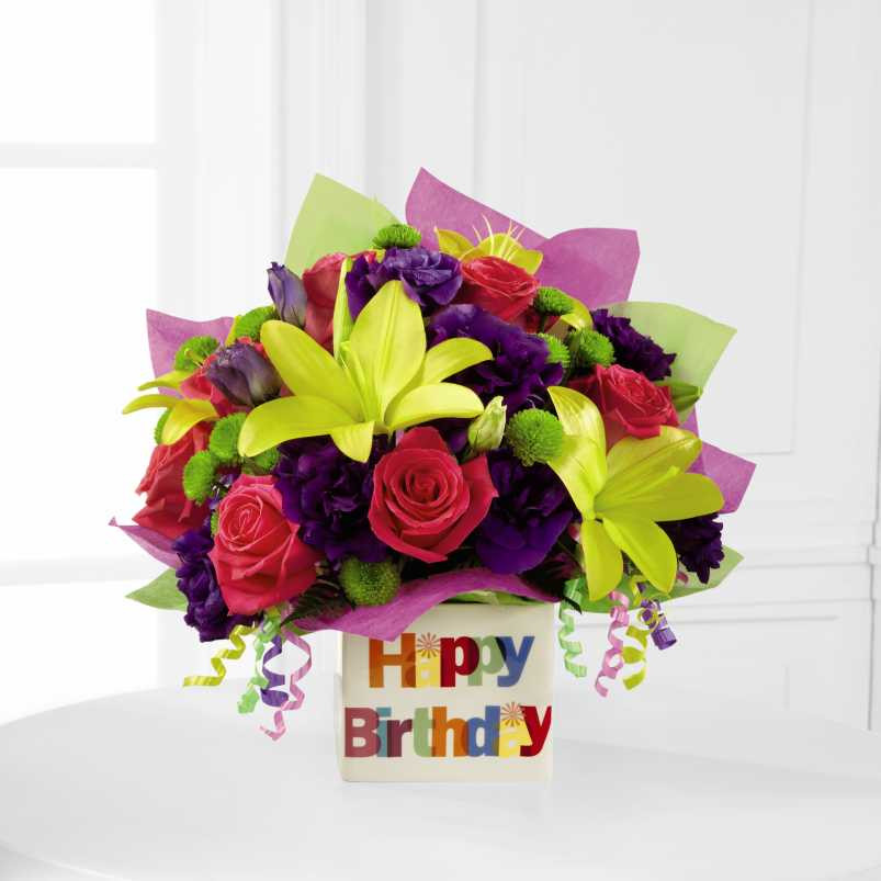Happy Birthday Bouquet Image 1 Loading Zoom