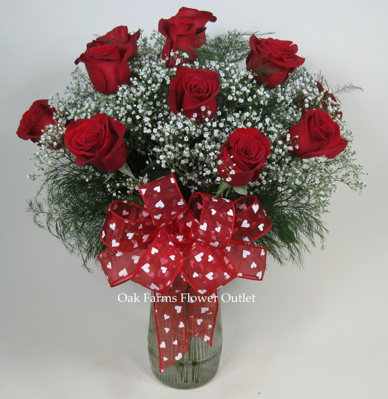 Say I Love You Red Rose Bouquet Oak Farms Flower Outlet Inc