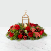 The FTD® I'll Be Home For Christmas™ Lantern Centerpiece 19-C3 Premium