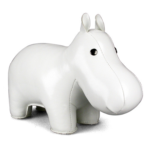 Classic Hippo Paper Weight - White