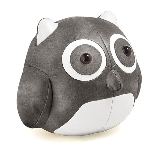 Cicci Owl Bookend - Chrome/White
