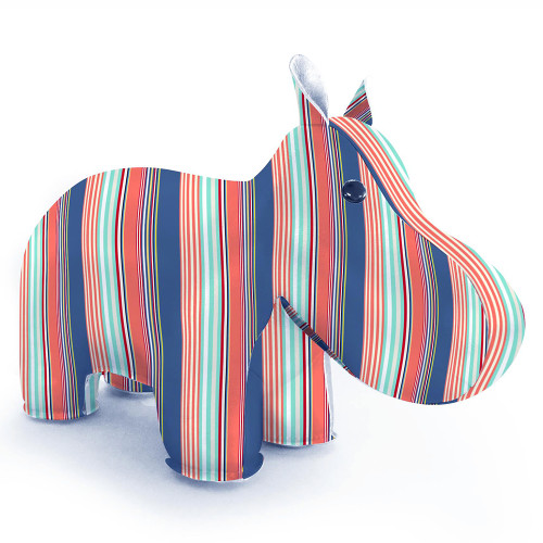 Zuny Kaleidoscope Hippo Stripe Blue/Red/Green