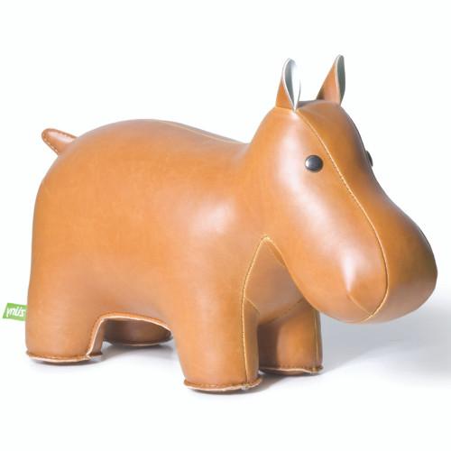 Classic Hippo Bookend - Tan