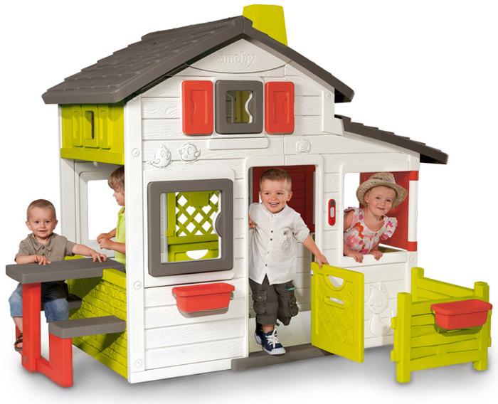 smoby friends house childrens playhouse kids uk. Black Bedroom Furniture Sets. Home Design Ideas