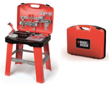 Smoby B&D Ready 2 Go Kid's Foldable Toy Workbench (500240)