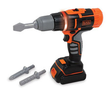 Smoby Childrens Black & Decker Electronic Toy Drill (360106)
