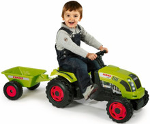 Smoby Claas Farmer XL Ride On Tractor and Trailer Kid