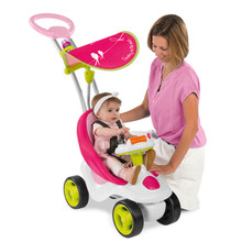 Smoby Bubble Go Fille 2-in-1 Ride-On Activity Stroller (413001)