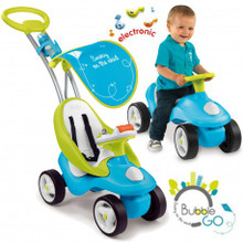 Smoby Bubble Go Blue 2-in-1 Ride-On Activity Push Chair