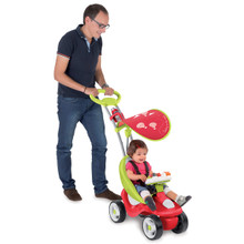 Smoby Bubble Go Red Unisex 2-in-1 Ride-On Activity Push Chair