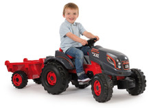 Smoby XXL Large Kids Tractor & Trailer complete with young farmer