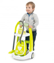 Smoby Children's Cleaning Cart Play Trolley with Vacuum cleaner