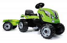 Smoby Farmer XL Green Tractor & Trailer Ride On Pedal Toy setup ready for use