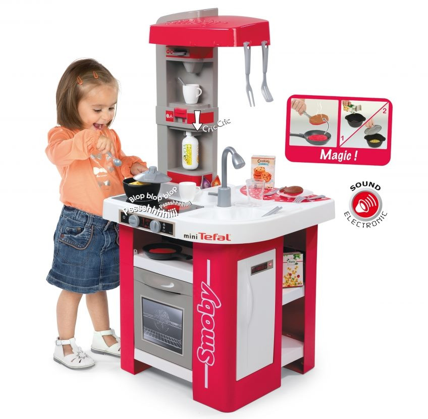 a0ce63e09a4b Smoby Childrens Tefal Cuisine Studio Kids Toy Kitchen