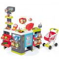 The Smoby Maxi Market childrens supermarket shop includes everything for kids to run their own shop.