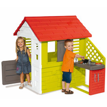 The Smoby nature childrens playhouse is great for your kids to act out their role play stories