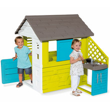 The Smoby kids pretty playhouse includes a kitchen and will keep your children entertained for hours
