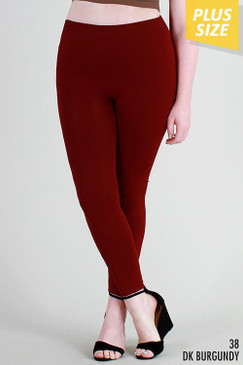 The Curvy Leggings, Burgundy
