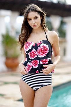 The Floral & Striped 2pc Suit