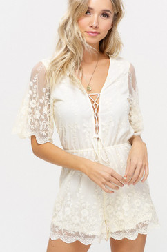 The Lace Romper,  Natural