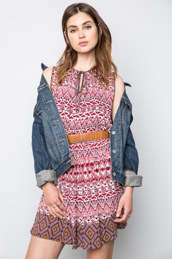 The Tribal Tank Dress, Plum