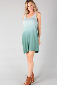 The Dip Dye Knit Tunic Dress, Olive