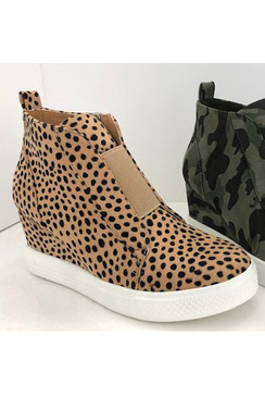 The Wedge Sneaker, Cheetah