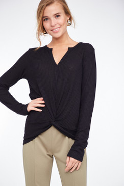 The Knot Front Herney Top, Black