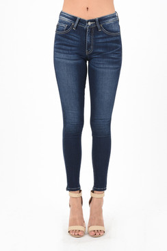 Mid-Rise Whisker Front Skinny Jean