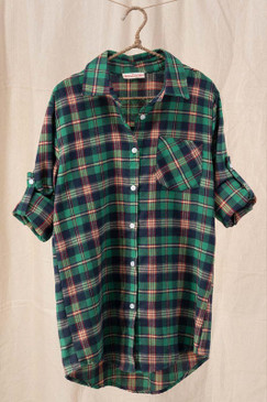 Plaid Button Down Shirt, Green