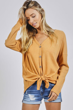 The L/S Thermal Knit, Mustard