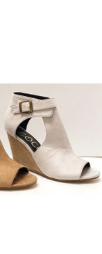 The Avery Wedge Heel, Stone