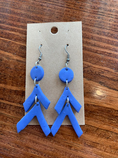 The Bella Large Earring, Blue