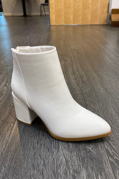 Angela Booties, White
