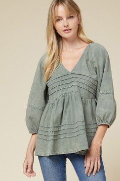 Free People Inspired Top, Olive