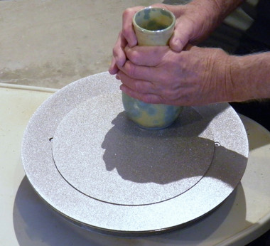 "10 inch ""add-on"" grinding disc in use"